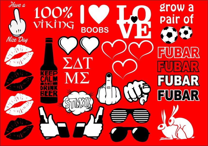 Strykesett 2, lips,finger, love, solbriller, Fubar, fotball,